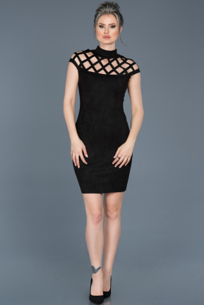Short Black Evening Dress ABK256