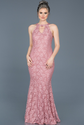 Long Rose Colored Mermaid Prom Dress ABU518