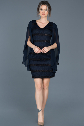 Short Navy Blue Evening Dress ABK121