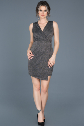Short Anthracite Invitation Dress ABK377