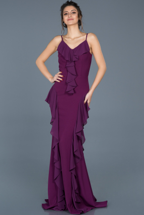 Long Violet Prom Gown ABU624