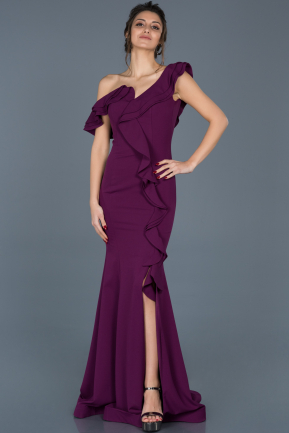 Long Violet Engagement Dress ABU626