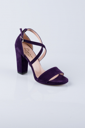 Purple Suede Evening Shoes AB1012