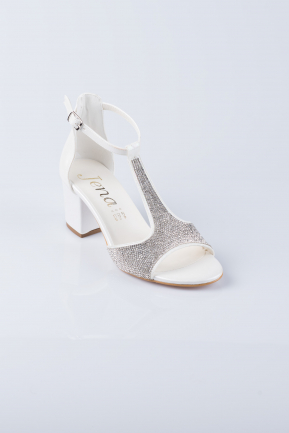 Pearl Leather Evening Shoes MJD0744