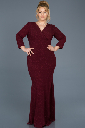 Long Burgundy Oversized Evening Dress ABU667