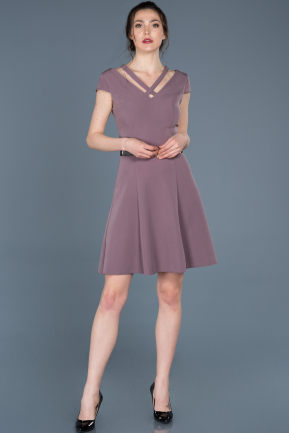 Short Lavender Prom Gown ABK427