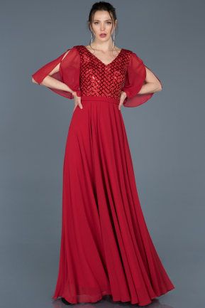 Long Red Invitation Dress ABU676