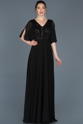 Long Black Invitation Dress ABU676