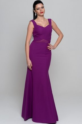 Long Purple Evening Dress C7177