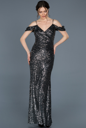Long Anthracite Mermaid Evening Dress ABU635