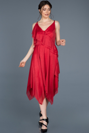 Short Red Prom Gown ABK457