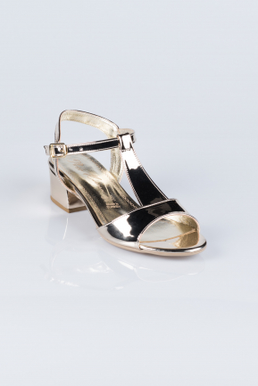 Gold Mirror Evening Shoes AB1020