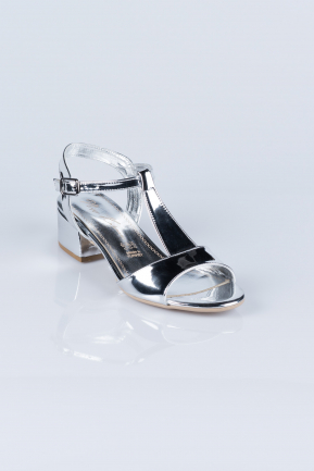 Silver Mirror Evening Shoes AB1020