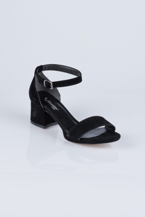 Black Suede Evening Shoes AB1021