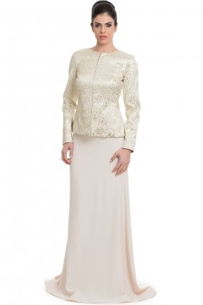 Gold Hijab Dress ABU101