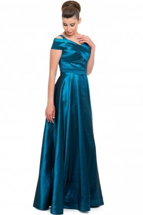 Long Oil Blue Evening Dress AB7147