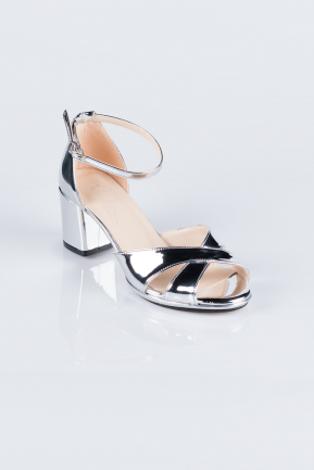 Silver Mirror Evening Shoes AB1022