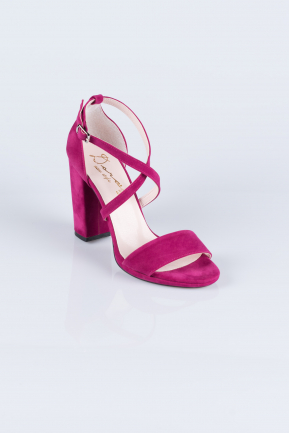 Fuchsia Suede Evening Shoes AB1012