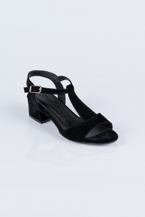 Black Suede Evening Shoes AB1020