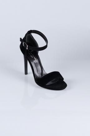 Black Suede Evening Shoes AB1026