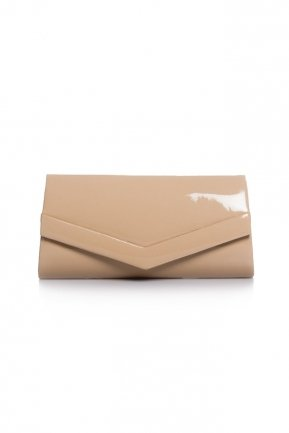 Mink Patent Leather Evening Bag V438