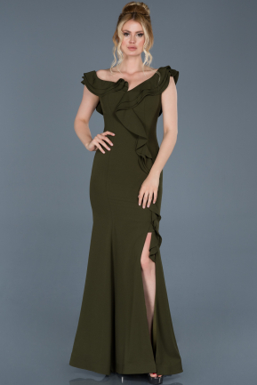 Long Engagement Dress Olive Drab ABU626