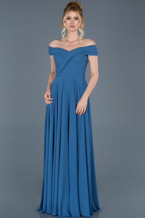 Long Indigo Engagement Dress ABU1363
