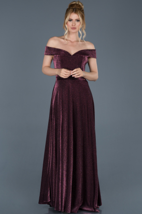 Long Plum Prom Gown ABU772