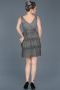 Short Anthracite Invitation Dress ABK367