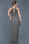 Long Anthracite Prom Gown ABU597