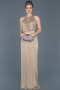 Long Gold Prom Gown ABU597