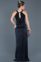Long Navy Blue Prom Gown ABU597