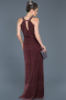 Long Plum Prom Gown ABU597