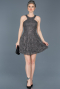 Short Anthracite Invitation Dress ABK369