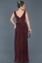 Long Plum Prom Gown ABU598