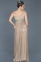 Long Powder Color Prom Gown ABU598