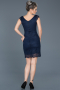 Short Navy Blue Evening Dress ABK010