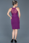 Short Purple Invitation Dress ABK278