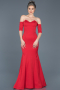 Long Red Mermaid Prom Dress ABU477