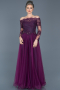 Long Purple Princess Evening Dress ABU019