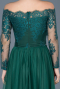 Long Emerald Green Princess Evening Dress ABU019