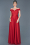 Long Red Evening Dress ABU020