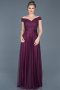 Long Violet Evening Dress ABU020