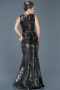 Long Black-Silver Evening Dress ABU517