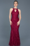Long Burgundy Mermaid Prom Dress ABU518