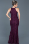 Long Plum Mermaid Prom Dress ABU518