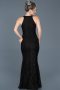 Long Black Mermaid Prom Dress ABU518