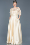 Long Beige Evening Dress ABU115