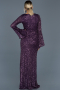 Long Purple Engagement Dress ABU521