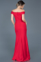 Long Red Plus Size Evening Dress ABU609